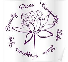 Serenity Tranquility Lotus (Purple) Poster