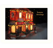 SEASONS GREETINGS TO ONE AND ALL! Art Print