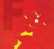 The Flash - Superhero Minimalist Alphabet Print Art by justicedefender