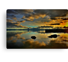 Golden Mirror of Nature Canvas Print