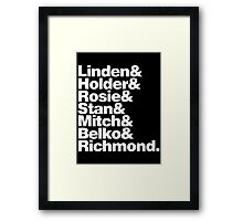 THE KILLING Framed Print
