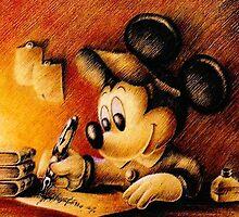 Mickey Mouse - Diseny Writing (Pencil) by Mellark90