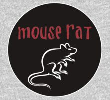 Mouse Rat band logo black background T-Shirt