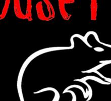 Mouse Rat band logo black background Sticker