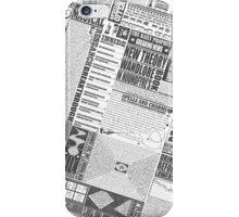 Wizarding Newspaper during Coffee (black&white) iPhone Case/Skin