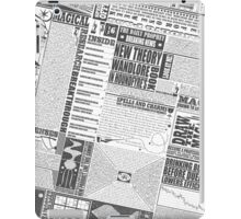 Wizarding Newspaper during Coffee (black&white) iPad Case/Skin