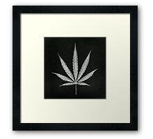 Cannabis Leaf Print  Framed Print