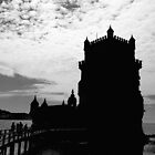 Black White Belem Tower Silhouette 2 | Torre Belem by silvianeto