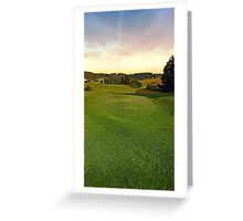 Summer morning at the golf club II | landscape photography Greeting Card