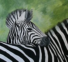 Zebra love by Lynda Harris