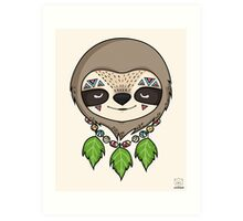Sloth Head Art Print