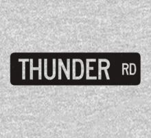 Thunder Road street sign by dissident