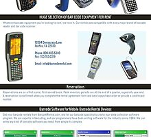 Barcode Scanner Rental by barcoderental