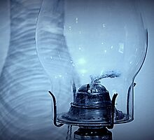 Oil Lamp & Shadows by Laurie Minor