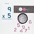 Numbers Game. Pale Blue. Pink. by Jenny Davis