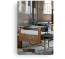 abandoned hospital bed Canvas Print