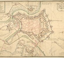 Vintage Map of Luxembourg (1686) by BravuraMedia