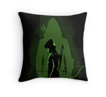 Green shadow Throw Pillow