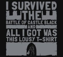 I survived the battle of castle black by SxedioStudio