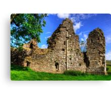 Pendragon Castle Walls Canvas Print