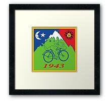 Hofmann Bike ride LSD Blotter Art Psychedelic Tee Framed Print