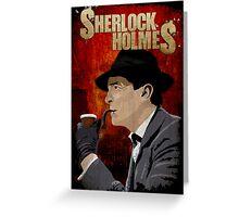 Sherlock Holmes Jeremy Brett T-Shirt Greeting Card