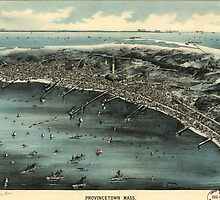 Vintage Pictorial Map of Provincetown (1910) by BravuraMedia