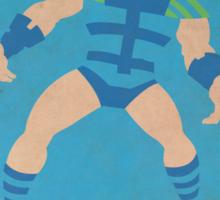Infinity Man - Superhero Minimalist Alphabet Print Art Sticker