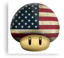 USA Mario's mushroom Metal Print