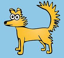Cute cartoon dog by rayemond