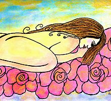 I dream of a bed of roses. (please read description.) by Renate  Dartois