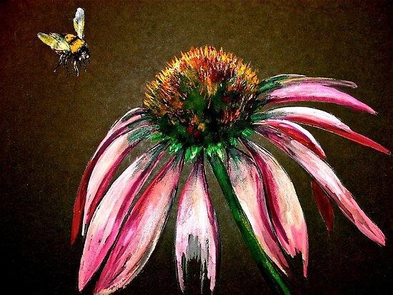 The Bee and the Flower  by © Janis Zroback