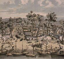 Vintage Pictorial Map of Sacramento (1850) by BravuraMedia