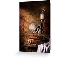 Vanitas with Skull, Shell & Candle Greeting Card