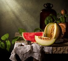 Still Life with Melon Slices by Jon Wild