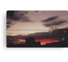 Sunsetsss Canvas Print