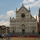 Playing football in Florence by Elena Skvortsova
