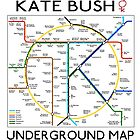 Kate Bush Underground Map by GaffaUK