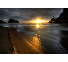 Into the sun, Piha Photographic Print