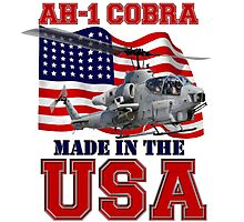 AH-1 Cobra Made in the USA Photographic Print