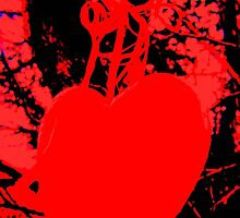 RED LOVE HEART by Colleen2012