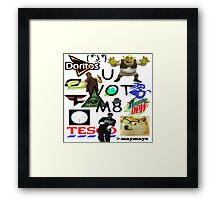 U WOT M8 Montage Parody (Dress Code Safe) Framed Print