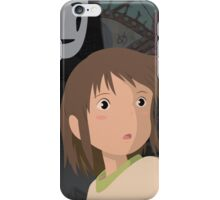 """Don't be such a scaredy cat, Chihiro"" - Spirited Away Art iPhone Case/Skin"