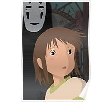 """""""Don't be such a scaredy cat, Chihiro"""" - Spirited Away Art Poster"""