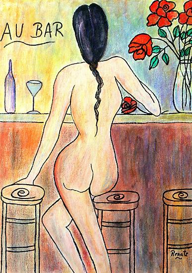 Au Bar.... by Renate  Dartois