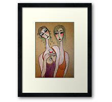 How come we have no boyfriends? Framed Print