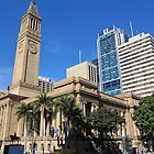 Beautiful City Hall & Clock Tower, Brisbane, Queensland. by Rita Blom