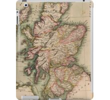 Vintage Map of Scotland (1814)  iPad Case/Skin