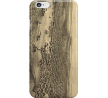 Vintage Pictorial Map of Seattle (1878) iPhone Case/Skin