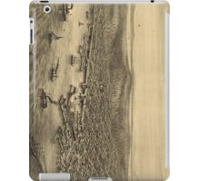 Vintage Pictorial Map of Seattle (1878) iPad Case/Skin